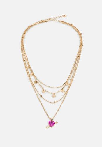 PCKAMILLE COMBI NECKLACE - Necklace - gold-coloured
