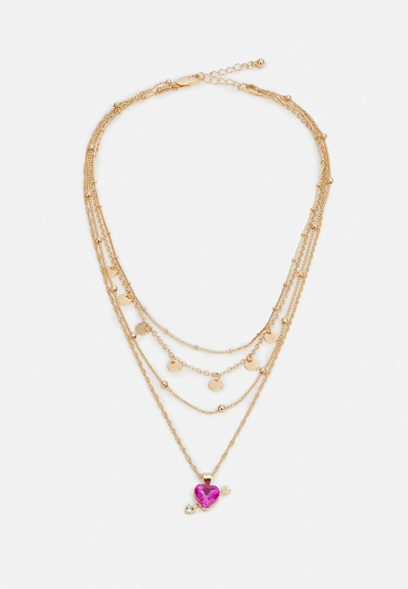 Pieces - PCKAMILLE COMBI NECKLACE - Necklace - gold-coloured