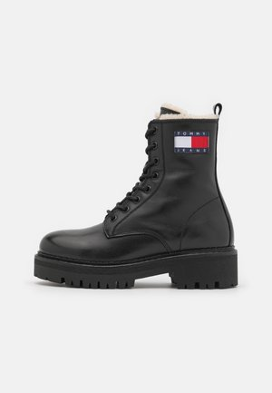 FLAG LACE UP BOOT - Lace-up ankle boots - black