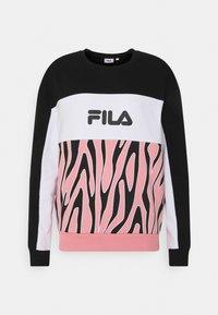 Fila - EMERIN BLOCKED CREW - Felpa - black/peony/bright white - 0