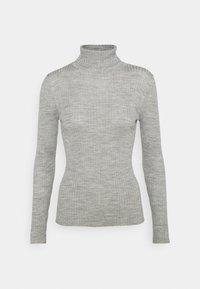 Selected Femme Petite - SLFCOSTINA ROLLNECK - Jumper - light grey melange - 0