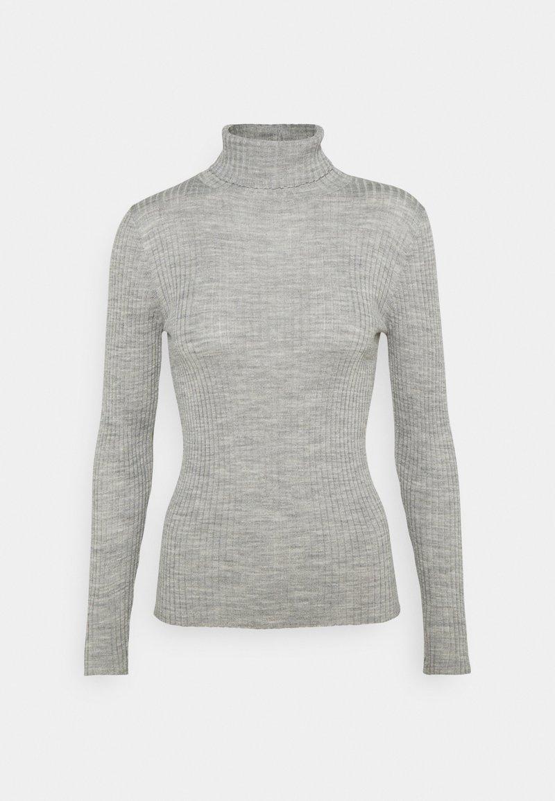 Selected Femme Petite - SLFCOSTINA ROLLNECK - Jumper - light grey melange