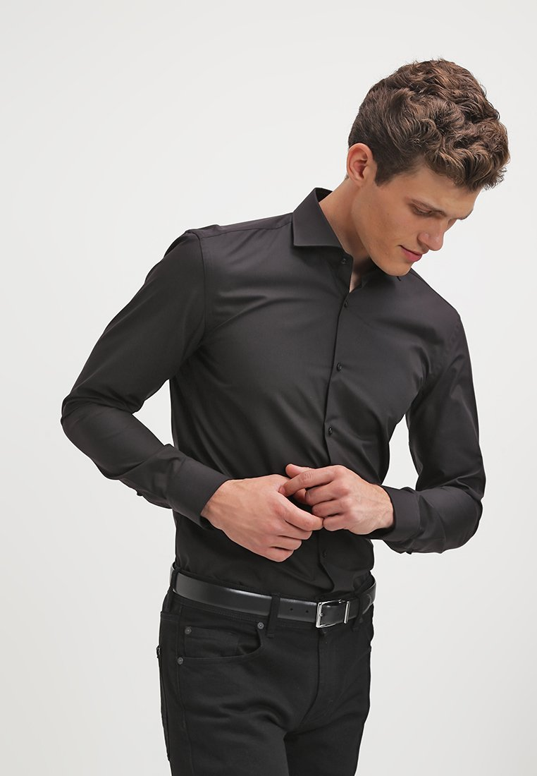 HUGO - JASON SLIM FIT - Formal shirt - black