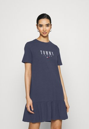 LOGO PEPLUM DRESS - Sukienka z dżerseju - twilight navy