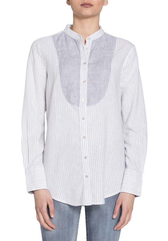 Camicetta - bianco-grigio