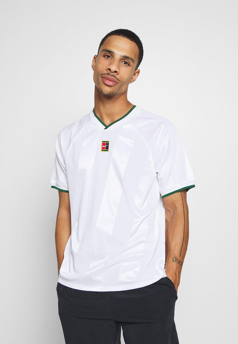 Nike Performance - Print T-shirt - white/gorge green