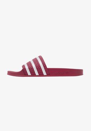 ADILETTE - Pantolette flach - collegiate burgundy/footware white