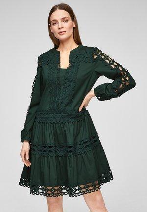 MIT SPITZEN EINSÄTZEN - Day dress - dark green