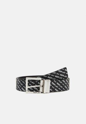 CRUST SAFFIANO EMBOSSED BELT - Cintura - black