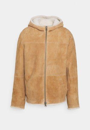 MONTONE - Leather jacket - fiocco