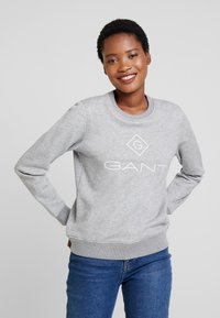 GANT - LOCK UP C-NECK - Sweatshirt - grey melange - 0