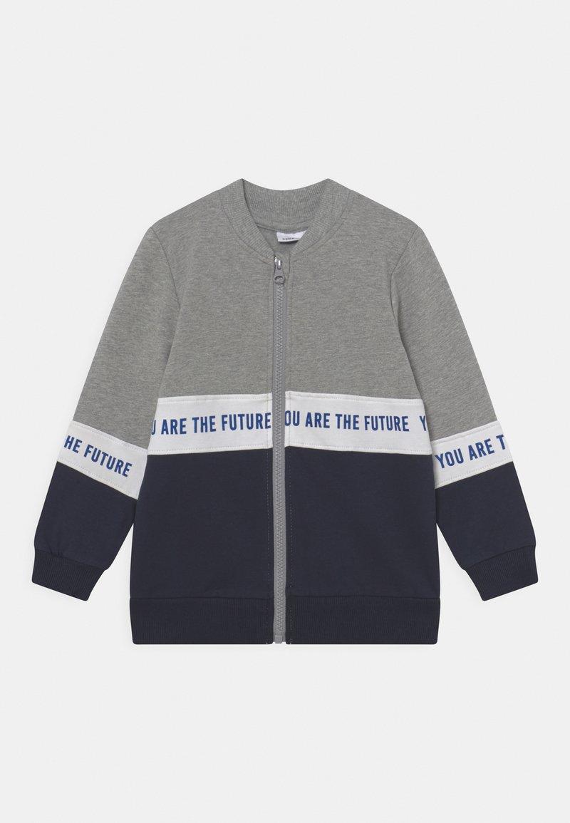 Name it - NMMLAUST CARD BOX - Zip-up sweatshirt - grey melange