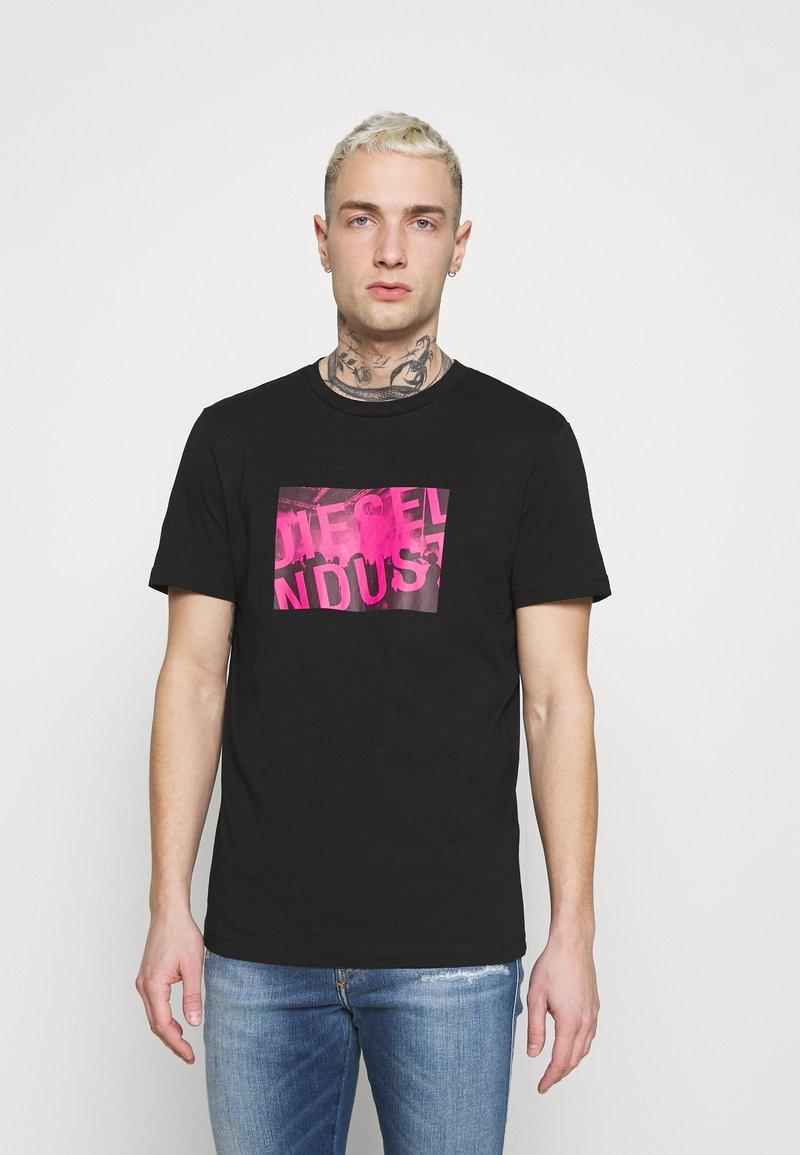 Diesel - T-DIEGOS-K16 UNISEX - Print T-shirt - black