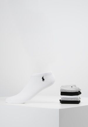 POLY BLEND ULTRA LOW CUT 6 PACK - Socks - white/black/grey