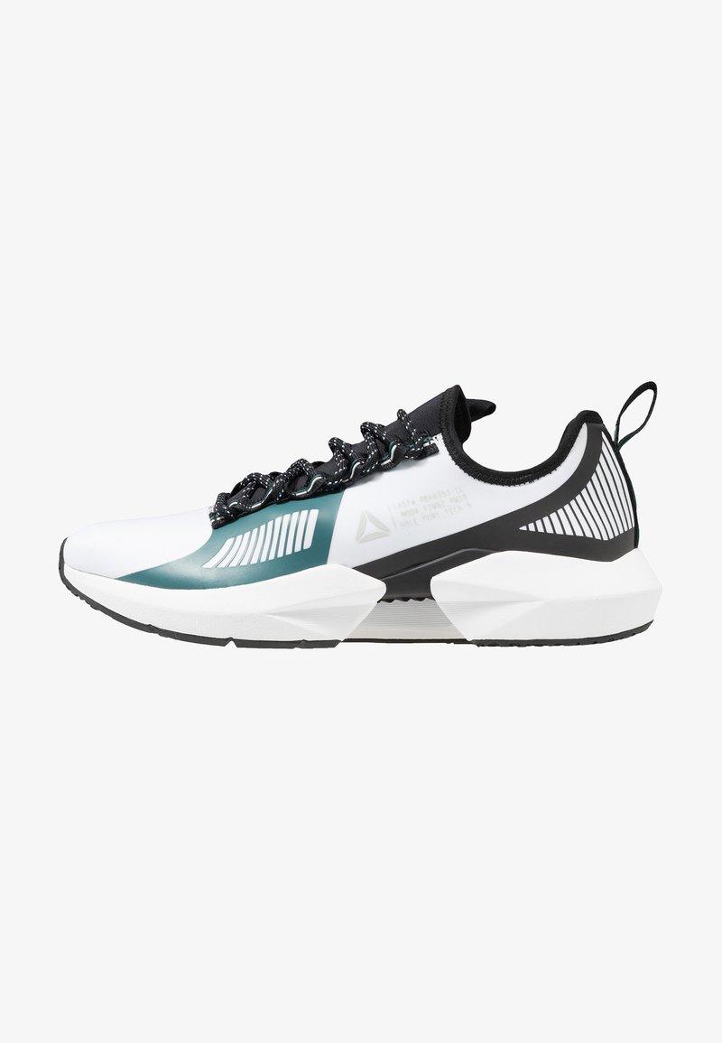 Reebok - SOLE FURY TS - Sports shoes - white/black/green