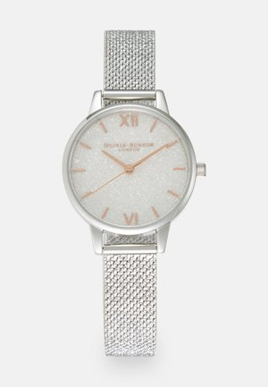 GLITTER DIAL - Rannekello - silver-coloured/white