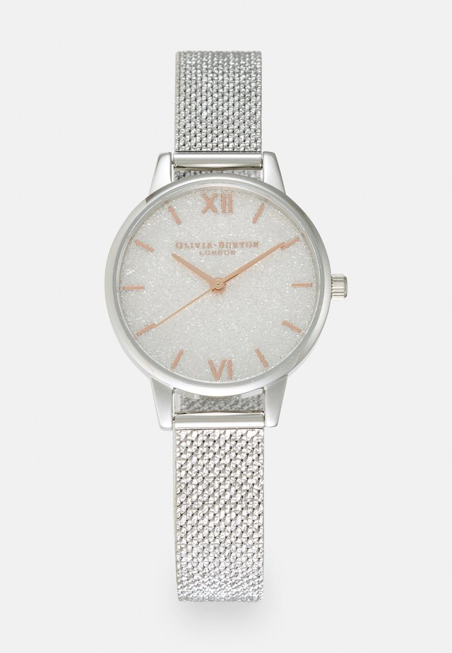 GLITTER DIAL - Klocka - silver-coloured/white