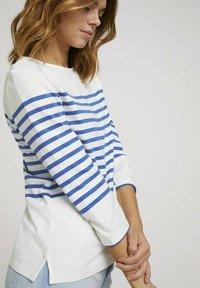 TOM TAILOR DENIM - Long sleeved top - blue white - 3