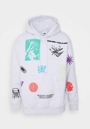 TOXIC MIND TOXIC PLANET HOODIE - Sweat à capuche - ash grey