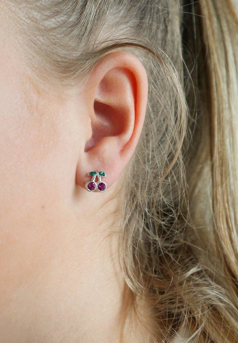 Lucardi - Earrings - silver-coloured