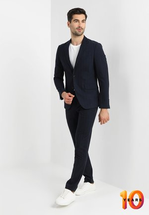 STRIPED SUIT SLIM FIT - Suit - navy