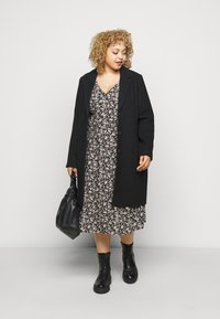 ONLY Carmakoma - CARCAN CALF DRESS  - Day dress - black/cement - 1
