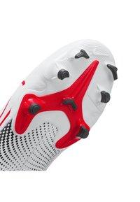 Nike Performance - MERCURIAL JR 7 ACADEMY FG/MG UNISEX - Moulded stud football boots - white/black/laser crimson - 6