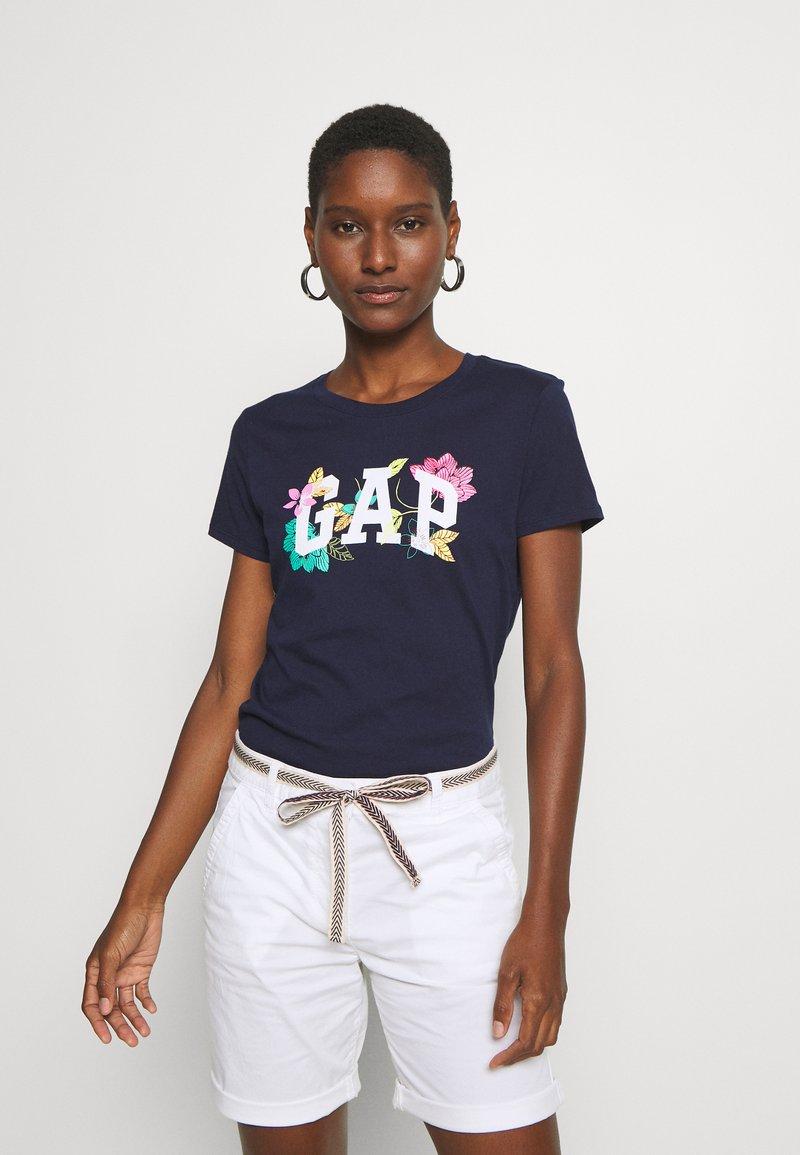 GAP - FRANCHISE FLORAL TEE - Print T-shirt - navy uniform