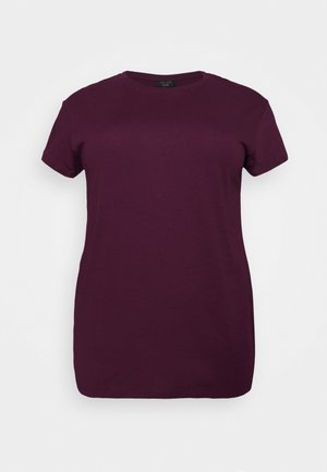 BOYFRIEND TEE - T-shirt basic - dark burgundy