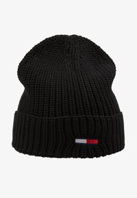 Tommy Jeans - BASIC FLAG BEANIE UNISEX - Muts - black - 4