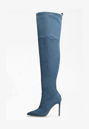 STIEFEL BAIWA VELOURSOPTIK - High heeled boots - mehrfarbig, grundton blau