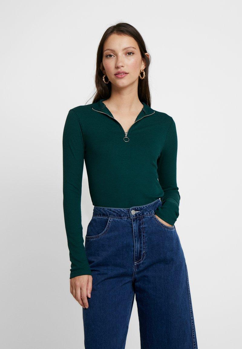 New Look - ZIP - Langærmede T-shirts - dark green