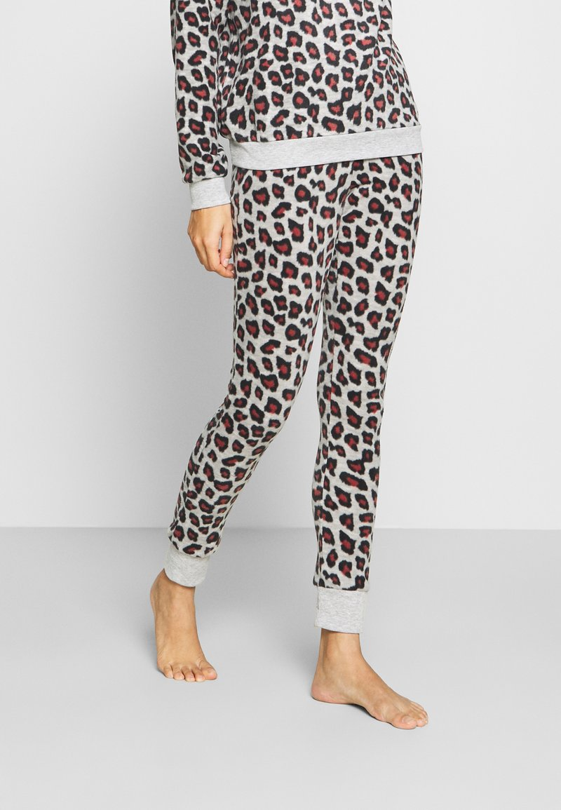 Hunkemöller - LEGGING LEOPARD - Pyjama bottoms - grey