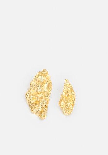 MELIES ASYMMETRICAL EARRINGS - Earrings - gold