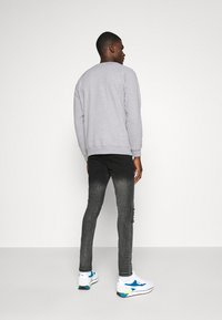 Denim Project - LOGO CREW - Felpa - mottled light grey - 2