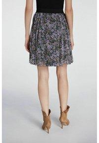 SET - A-line skirt - black violett - 2