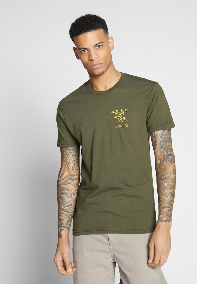 CLAW - T-shirt z nadrukiem - green