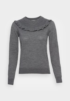 Pullover - asphalt black