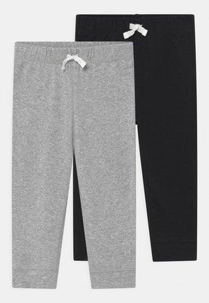 2 PACK - Trousers - mottled grey/black