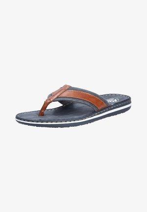MODISCHE PANTOLETTE - T-bar sandals - peanutnavy (24)
