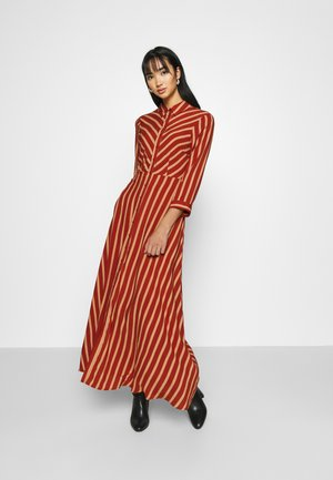 YASSAVANNA STRIPE LONG DRESS - Maxi dress - arabian spice