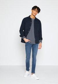 TOM TAILOR DENIM - SKINNY CULVER STRETCH - Jeans Skinny Fit - dark stone blue grey denim - 1