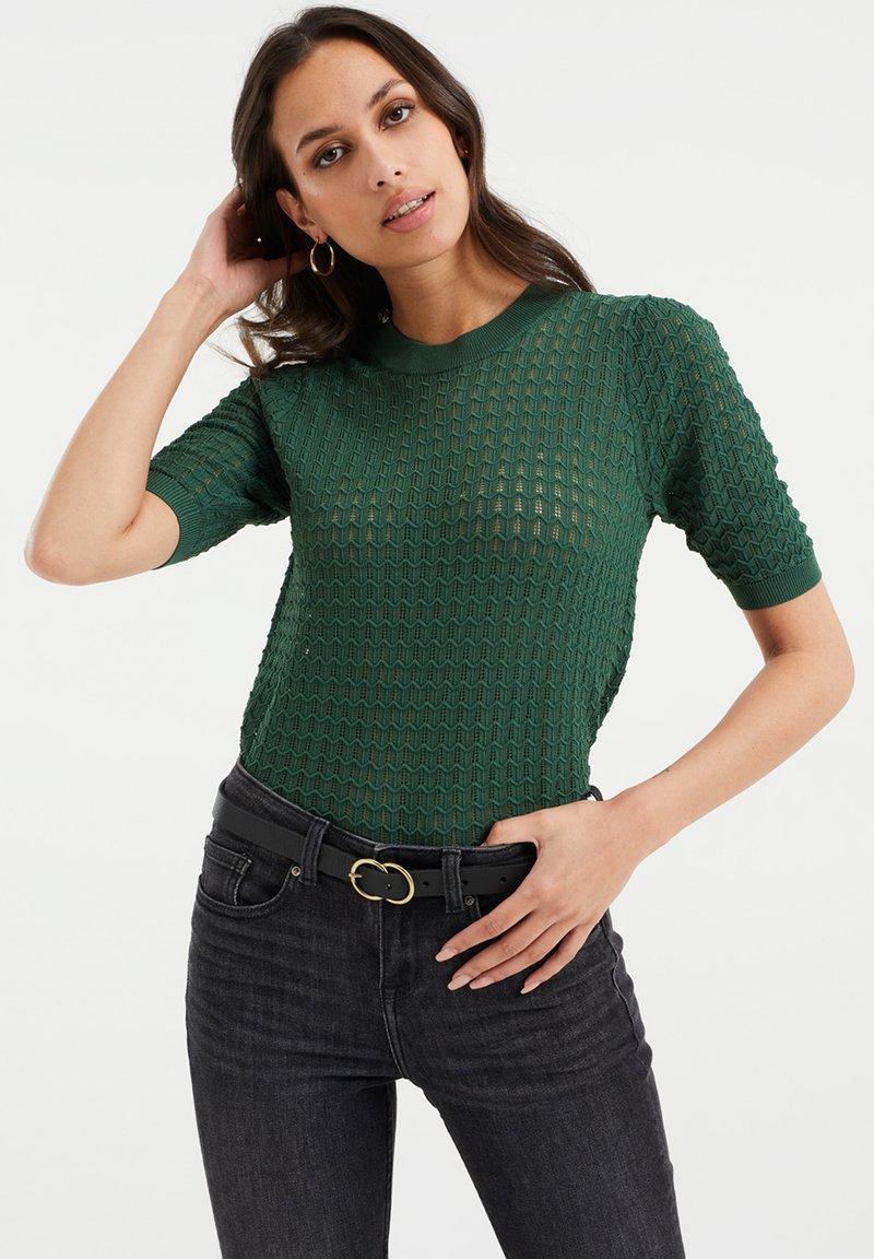 WE Fashion - Jumper - dark green