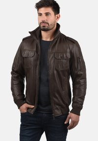 Solid - FAMASH - Veste en cuir - brown - 0