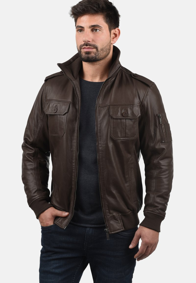 Solid - FAMASH - Veste en cuir - brown