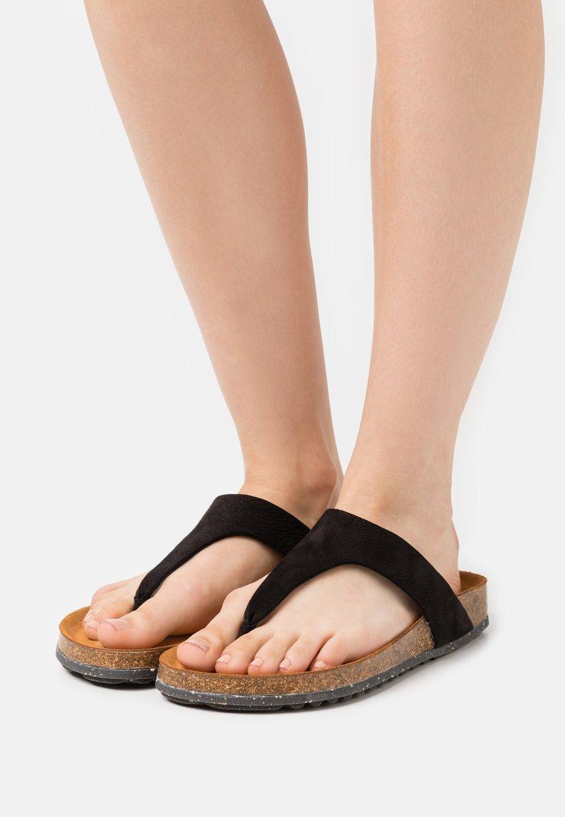 Tamaris GreenStep - T-bar sandals - black