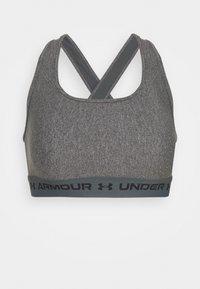 CROSSBACK MID - Medium support sports bra - charcoal light heather
