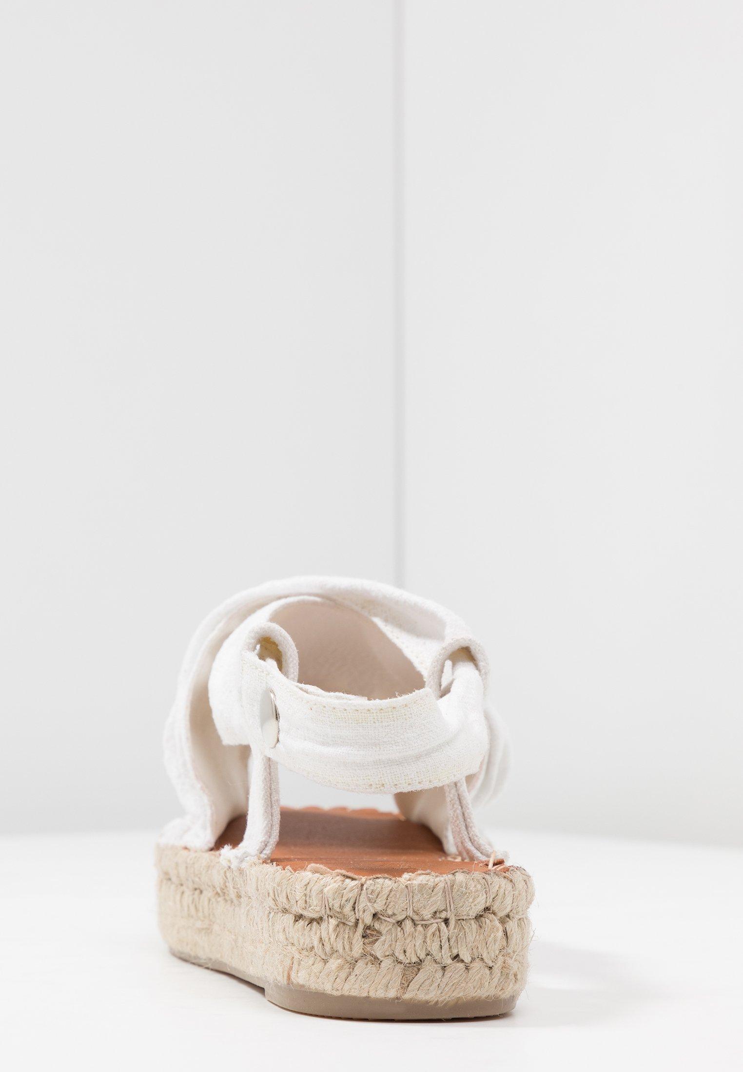 ALOHAS AMAND - Platåsandaler - white