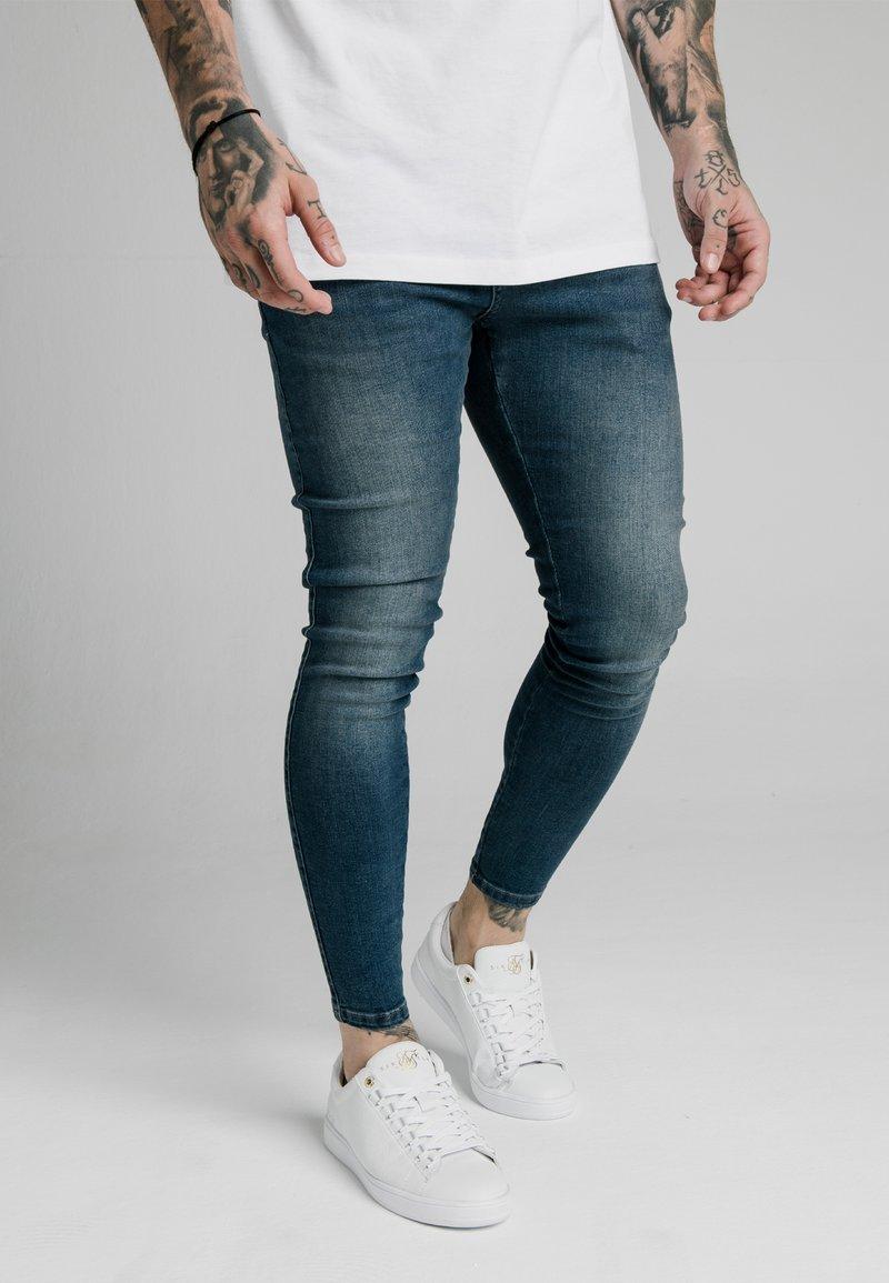 SIKSILK - Jean slim - midstone blue