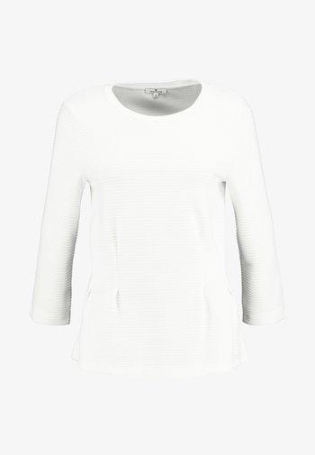 STRUCTURE CREW-NECK - Top sdlouhým rukávem - whisper white